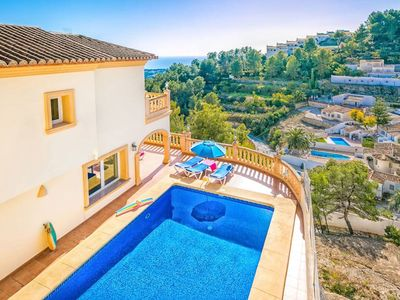 Photo for Casa Benim Vista Mar is situated in a quiet residential area in the Benimeit hills of Moraira overlo