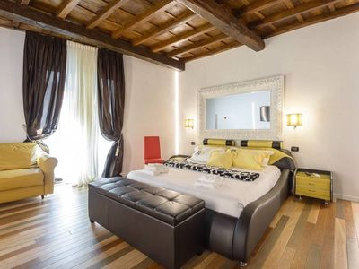 Photo for HUB SPAGNA DELUXE FAMILY APARTMENT - SPANISH STEPS - until  7 pax - wifi - A/c - 110mq
