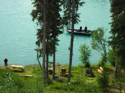 Photo for Prestine Private Kenai River Front Property With An Eagle's Nest 360 Degree View