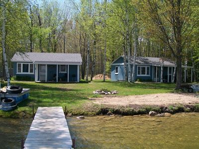 Book 1 or all 3 Lakefront Cottages on Long Lake, Alpena MI