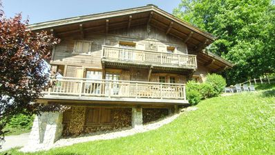 Photo for Beautiful Savoyard chalet with a view to Megève