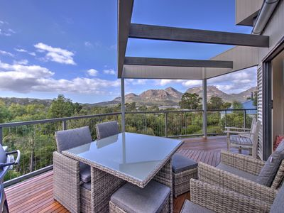 Photo for Stunning house with amazing ocean & mountain views. Fireplace & wifi