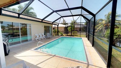 Photo for Charming Tropical Waterfront Getaway in beautiful Cape Coral
