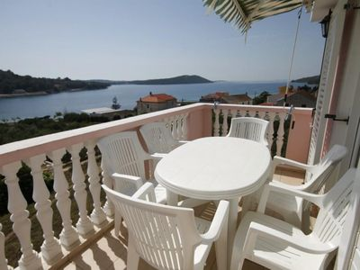 Photo for Two bedroom apartment with terrace and sea view Cove Soline bay - Soline (Dugi otok)