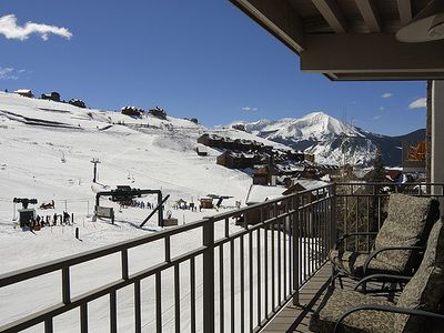 Photo for True Ski-in Ski-out 2BR Condo W/Hot Tub and covered parking Great View