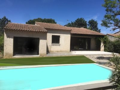 Photo for Villa entirely renovated 800m of the center town of St Rémy with heated swimming pool