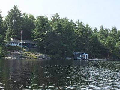 View of the Cottage & Boathouse from the Bay