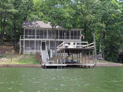 Photo for Waterfront Cabin/Clean Water/Jump off the top/Space for large family/fishing