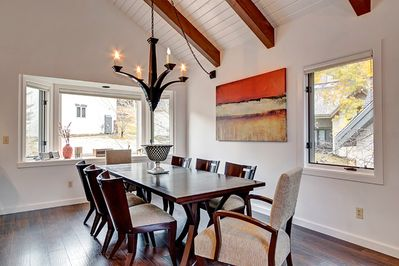 Dining Area - Serve home-cooked meals at the elegant dining table for 8.