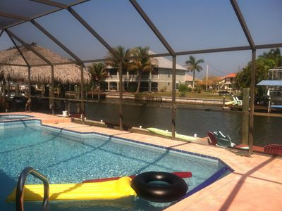 Photo for Waterfront  Heated Pool Island Home w/ Bicycles Kayaks Grill Dock