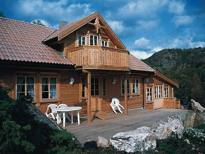 Photo for Holiday cottage in Southern Norway with pool and sauna for 10 persons