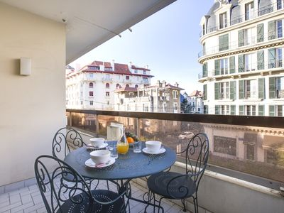 Photo for Large apartment in Biarritz, balconies, parking, 350m beach - W201