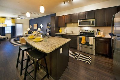 Open Concept Kitchen with Breakfast Bar Seating