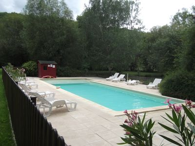 Photo for SARLAT 8km, Rent House with Swimming Pool, Private Fishing Pond.