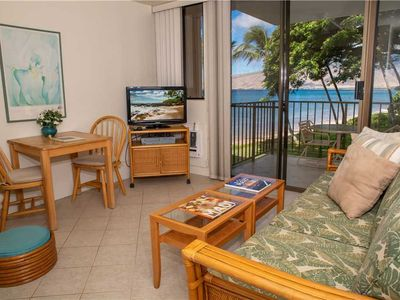 Photo for KR205-South Maui Condo  with Ocean and Park Views in a Tranquil Beach Front Resort