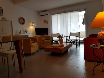 Photo for 20m beach, sea views, beautiful new apartment, 3rd private elevator