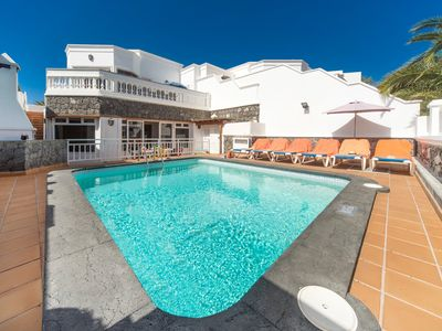 Photo for Villa Ramos Uno: Heated Private Pool, Walk to Beach, Sea Views, A/C, WiFi, Car Not Required
