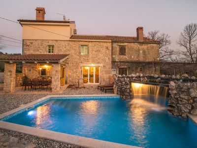 Photo for Stone villa surrounded by beautiful nature, quiet area, pool with waterfall