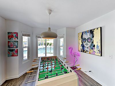 Living Room - Host a foosball tournament in the open-concept living room.