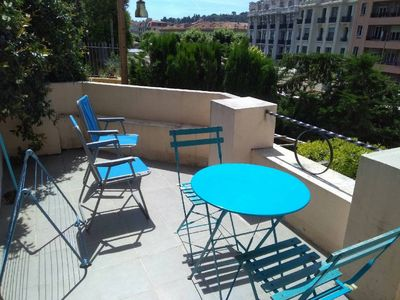 Photo for Very nice studio of 19m2 + beautiful terrace of 8m2 in downtown Nice