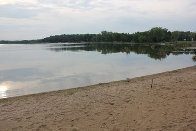 Private Beach on Clearwater lake