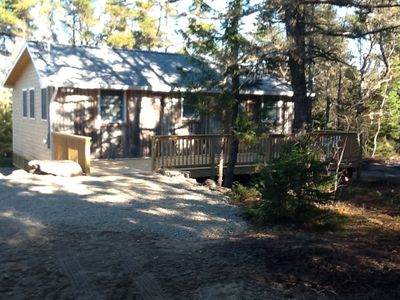 Photo for Be the first to rent this all newly renovated 1930s Log Cabin in Corea.