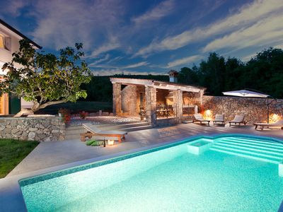 Photo for This 5-bedroom villa for up to 9 guests is located in Rabac and has a private swimming pool, air-con