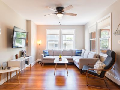 Photo for Modern and comfy Quincy Bay beach house, next to Boston & steps from the beach!
