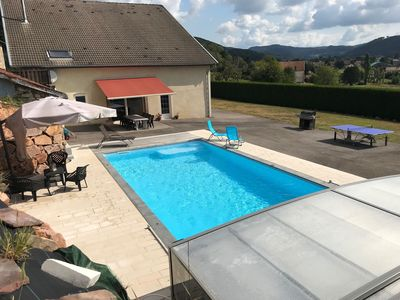 Photo for Beautiful renovated farmhouse, quiet, private pool