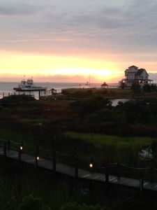 Sunset with ferry boats!