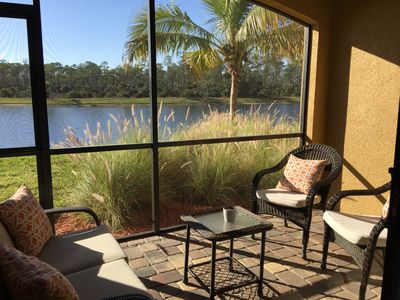 Photo for 2 Bed First Floor Condo with TPC Golf Course And Lake View