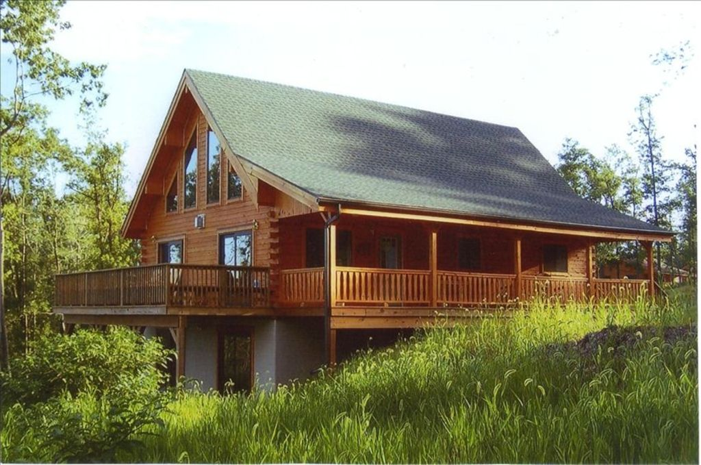 Amish Built 5 Bedroom Log Home With 50 Mile View In Pocono