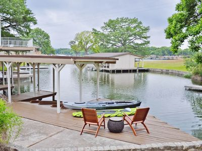 Photo for NEW LISTING! Lakefront home w/ guest house, kayak, lake views & dock - dogs OK!