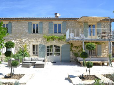 Photo for Large stone Mas, situated in a charming, quiet hamlet, close to Uzes.