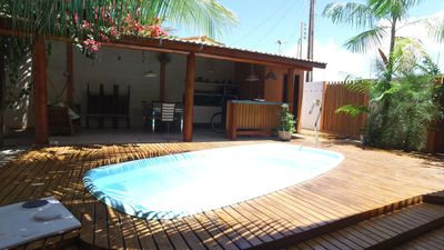 Photo for Beautiful house by the sea with pool and recreation area with 3 rooms very pleasant