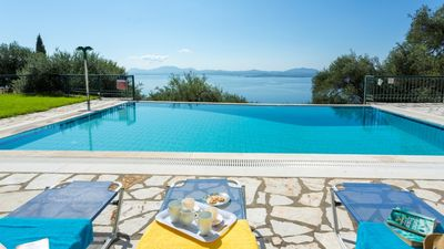 Photo for Villa with fantastic views of the endless Ionian Sea