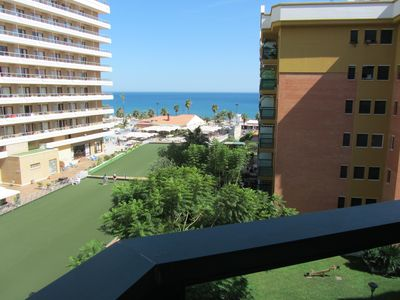 Photo for 2 bedroom apartment at Bajondillo beach with swimming pool, A/C and WiFi
