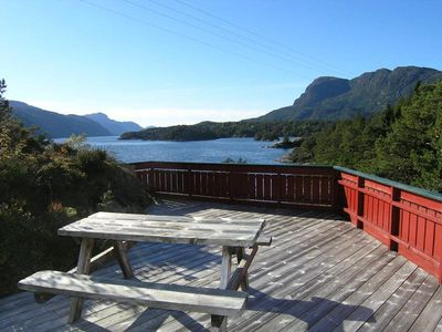 Photo for Holiday house with panoramic view on fjord landscape for 6 persons