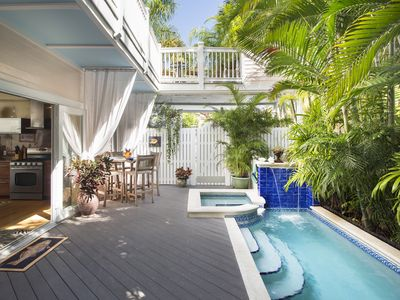 Photo for ~TROPICAL DREAM~ World Class Luxury Home w/Pool, Roma Spa & Parking. Pets ok