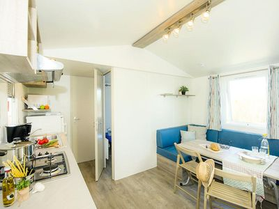Photo for Camping La Falaise ** - Cozy Air-conditioned 3-room mobile home 4/6 people