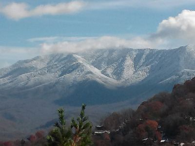 Another view of LeConte on a cold morning.