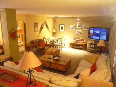 Photo for On access road to ski slopes private setting, walk distance to restaurants, bar