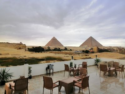 Photo for Pyramids view Apartment, breakfast, wifi, air conditioning and guiding