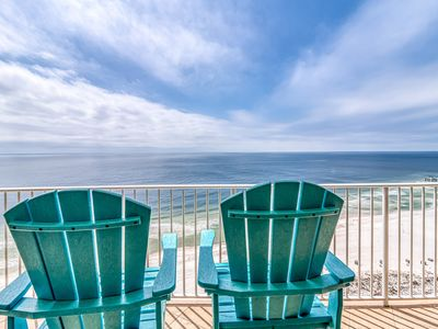 Photo for Beachfront condo w/ a private hot tub, shared pools, lazy river, & tennis!