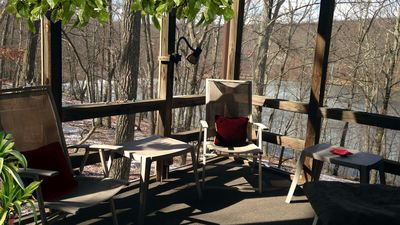 Photo for Cozy 4BR Water Front Cabin/home. Ski Camelback and Shawnee Poconos Mountains!