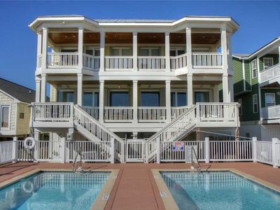 Photo for 1 Perfect Alignment - Beautiful Oceanfront Duplex with Pool, Pet-friendly!