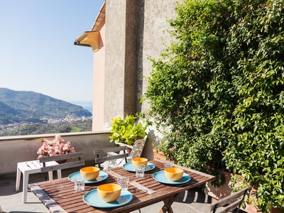 Photo for CINQUE TERRE LEVANTO DOSSO-COSY COUNTRYHOUSE WITH WONDERFUL VIEW-HIKING SEA- RELAX