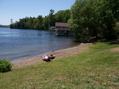 Photo for Nice view of the lake-100ft to the Beach and use of a conoe-close to LG village