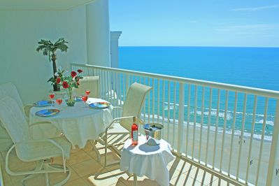 Large Wide Main Balcony, Nicely Furnished,  Ceramic Tiles, and Breathtaking View