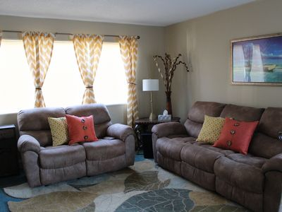 Photo for Pet Friendly!  Walk to Starbucks!  Room for two Families! Quiet Avenues Location